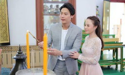 """""""ต๊ะ วริษฐ์"""" ควงเจ้าสาว """"แอน วริษฐา"""" เข้าพิธีแต่งงานแบบไทย"""
