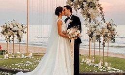 """""""กวาง ฟ้ารุ่ง"""" ปิดรีสอร์ทจัดงานแต่งงาน สุดโรแมนติกริมทะเลหัวหิน"""