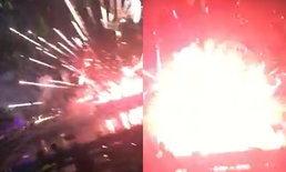 ภาพนาทีระทึก! พลุระเบิดกลางงานเสาหลักเมืองสุรินทร์ ชาวบ้านวิ่งหนีกระเจิง