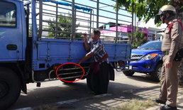 หยามตำรวจ-มือดีย่องลักแบตเตอรี่รถบรรทุกกลางวันแสกๆ ขณะคนขับไปหาหมอ
