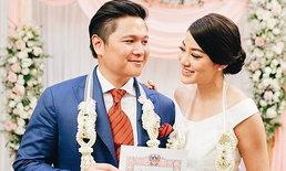 """""""พิตต้า"""" ควงเจ้าบ่าว จดทะเบียนสมรส งานแต่งวันที่ 2 งดงามแบบไทย"""