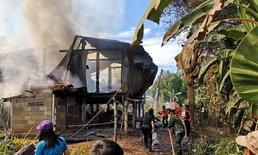 ไฟไหม้บ้านไม้วอดเรียบ 3 หลัง เร่งดับเพลิงนานนับชั่วโมง โชคดีไร้คนเจ็บ-คาดไฟลัดวงจร
