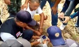 ทหาร-ตำรวจบุกกระท่อมปลายนา รวบ 2 เอเย่นต์ครอบครองยาบ้ารวม 1,415 เม็ด