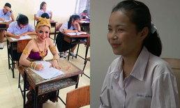 สาวน้อยเข้าสอบชุดไทย ยืนยันตั้งใจทำหน้าที่ให้ครบ ทั้งกิจกรรมและการเรียน