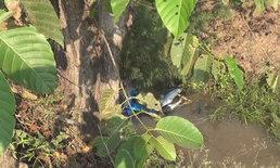 ศพต่อไป-หนุ่มใหญ่ขี่จักรยานยนต์กลับจากงานศพ แหกโค้งจมคลองน้ำเสียชีวิต