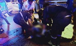 หนุ่มใหญ่ขับมอเตอร์ไซค์ ถูกรถปริศนาชนดับคาถนน-คู่กรณีหนีลอยนวล