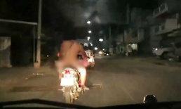 คนชัยภูมิตาค้าง ชายแก้ผ้าขี่รถร่อนตามถนนทั่วเมือง โซเชียลแจ้งเบาะแส
