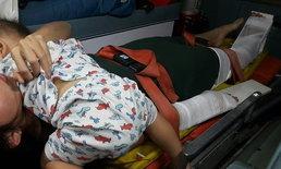 """กู้ภัยสะเทือนใจ ช่วยสาวท้องอ่อนถูก """"สามี"""" ขับรถชน เจ็บหนักยังกอดลูกน้อยไม่ปล่อย"""