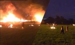 """""""วิ่งหนีตาย ทั้งที่ไฟเผาตัว""""  เผยคลิประทึก นาทีท่อน้ำมันระเบิด ยอดตายพุ่งต่อเนื่อง"""