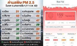 """""""บัวใหญ่"""" พีคสุด! PM 2.5 พุ่งสูงสุดในโคราช คาดเกิดจากเผาอ้อย-สร้างรถไฟทางคู่"""