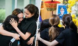 """ล้านความรู้สึก ภาพครอบครัว """"แต้ว ณฐพร"""" ยืนมองรูปคุณพ่อ 3 คนแม่ลูก กอดกันร้องไห้"""