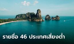 เผยรายชื่อ 46 ประเทศเสี่ยงต่ำ 1 พ.ย. เข้าไทยได้ไม่ต้องกักตัว เช็กเลยที่นี่!