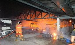ไฟไหม้โรงเก็บรถกอล์ฟสนามธูปะเตมีย์วอด