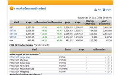 หุ้นไทยเปิดตลาดปรับตัวเพิ่มขึ้น 7.95  จุด