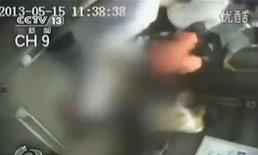 สยอง! ลิฟท์จีนหนีบพยาบาลสาว ลากจนหัวขาด