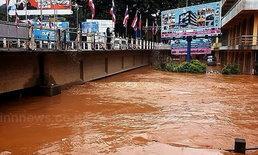 แม่น้ำสายสูง5ม.ท่วมตลาดการค้าไทย-พม่า