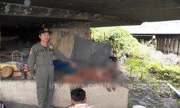 พบศพสาวเสียชีวิตบนตอหม้อสะพานย่านปทุมธานี