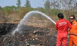 สุราษฎร์ฯยังฉีดน้ำเลี้ยงไฟไหม้บ่อขยะ