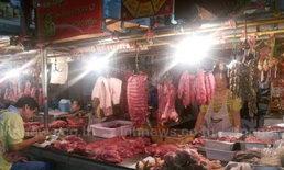 เนื้อหมูโคราช ราคาพุ่ง ทำลูกค้าลดกว่าครึ่ง