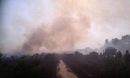 ไฟไหม้ทุ่งนาสตูล80ไร่ควันไฟลอยเข้าพื้นที่หมู่บ้าน