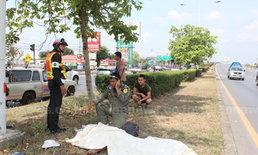 เฒ่านนทบุรีวัย74ข้ามถนนถูกกระบะเสยร่างเละ