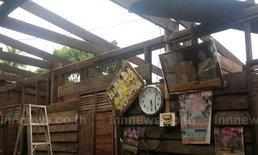 พายุซัดหนองคายบ้านพังสวนยางหักโค่น