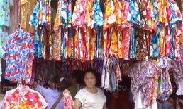 ชาวจันทบุรี เริ่มออกมาหาซื้อเสื้อลายดอก