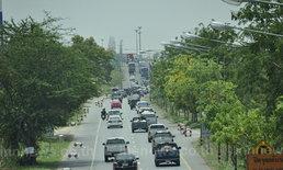 ถนนมิตรภาพเลี่ยงตัวเมืองโคราชรถแน่น