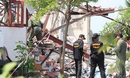 EODพบหลุมระเบิดกว้างกว่า1ม.บ้านแปดริ้ว