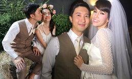 สา มาริสา ควงสามีนักบิน ฉลองแต่งงานชื่นมื่น