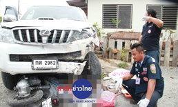 กระบะเสียหลักถนนอยุธยาชนหญิงท้องดับ-ลูก 7 ขวบเจ็บ