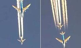"""สุดระทึก 2 บินโดยสาร """"โบอิ้ง"""" แข่งซิ่ง-บินสูง เหนือฟ้า 35,000 ฟุต"""