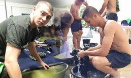 """ภาพล่าสุด """"ชิน ชินวุฒ-กวินท์ ดูวาล"""" หลังฝึกทหารได้เกือบเดือน"""