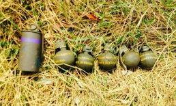 ปทุมฯ พบระเบิด-แก๊สน้ำตาพร้อมใช้ถูกทิ้งไว้