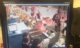 ภาพนาทีประทัดยักษ์ระเบิด กลางสนามบินเซี่ยงไฮ้ เจ็บ 4
