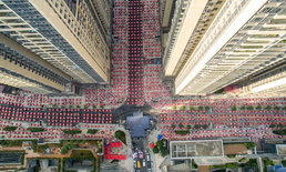 อลังการโต๊ะจีนเมืองกวางโจว คนนับหมื่นแห่เข้าร่วม