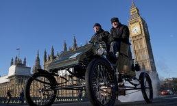 รถโบราณหลายร้อยคันมารวมตัวกันในงาน Veteran Car Run ที่กรุงลอนดอน