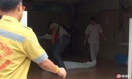 หนุ่มแทงตัวเองญาติพาส่งหมอ หนีไปโดดตึกรพ. ดิ่ง 7 ชั้นดับ