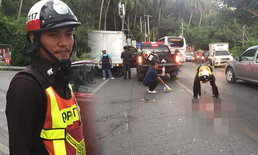 ได้ใจประชาชน! ตำรวจโกยกองเลือดบนถนน ไม่สนแม้ตัวเองเปื้อน