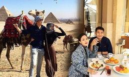 """ฮันนีมูนสุดสวีท """"พอลลี่"""" ควงสามีเที่ยวอียิปต์"""
