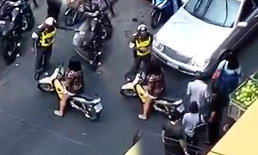 ชาวเน็ตวิจารณ์ยับ สาวจอด จยย.ขวางชาวบ้าน  ทะเลาะตำรวจอ้างพูดจาไม่ดี