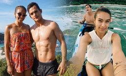"""ความรักยังฟิน """"เทย่า"""" ควงแฟน """"มิก้า"""" เที่ยวหวานทะเลไทย"""