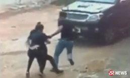 ตร.ล่าไล่หนุ่มเมายา ควงปืนจี้สาวขึ้นกระบะซิ่งหนีระทึก