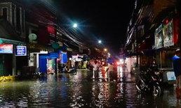 ชุมชนเทศบาลปากพะยูน พัทลุง กลายเป็นตลาดน้ำ