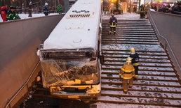 รถบัสพุ่งชนอุโมงค์ทางเดินในกรุงมอสโก ดับ 5 ราย