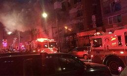ไฟไหม้อพาร์ทเมนท์ในนิวยอร์ก เจ็บอย่างน้อย 23 คน
