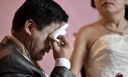 สามีสานฝันให้ภรรยาป่วยมะเร็งระยะสุดท้าย ใส่ชุดวิวาห์ถ่ายพรีเวดดิ้ง