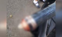 หนุ่มหื่นวิตถาร ครอบถุงยางใช้แล้วไว้ที่แฮนด์รถนักเรียนสาว