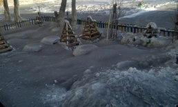 สะพรึง หิมะตกทั่วเมืองที่คาซัคฯ กลายเป็นสีดำเหมือนถ่านหิน