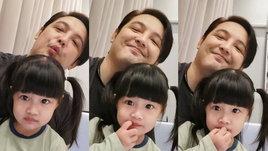 """มุมมุ้งมิ้ง """"ศรราม"""" กับลูกสาว แฟนๆ แห่ชม """"น้องวีจิ"""" ฉายแววความสวยมาเต็ม"""